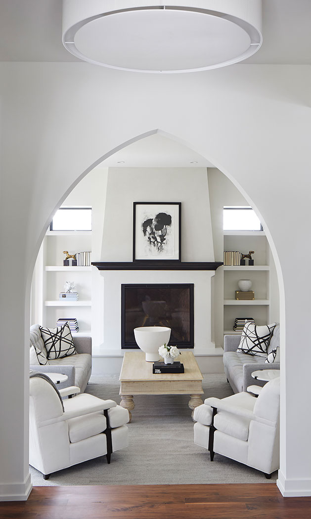 Archway Entry Into Family Room