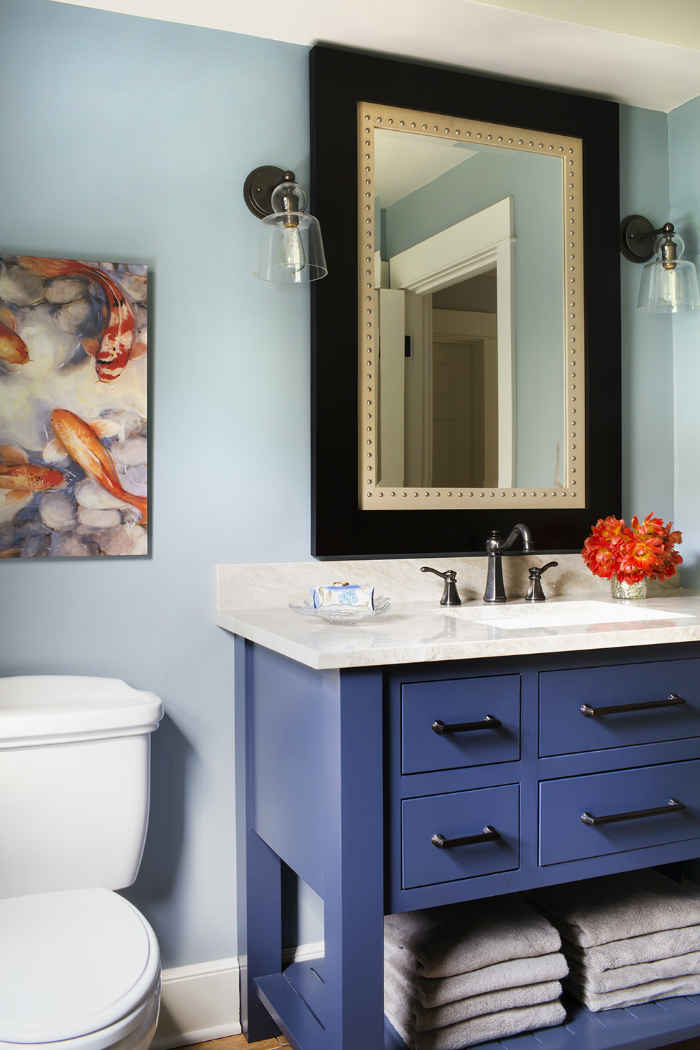 Bathroom With Pops Of Color