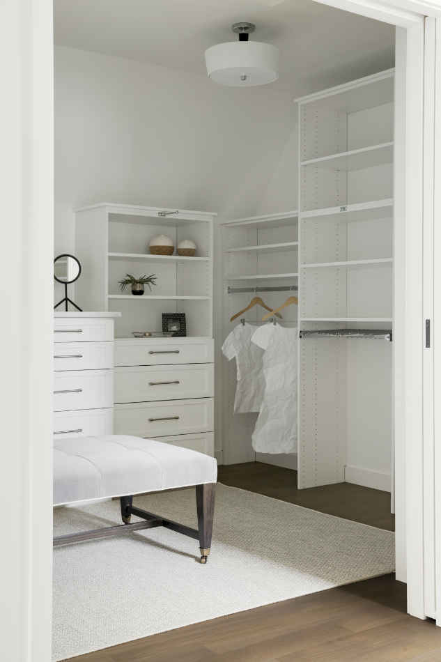 Beautiful White Walk In Closet