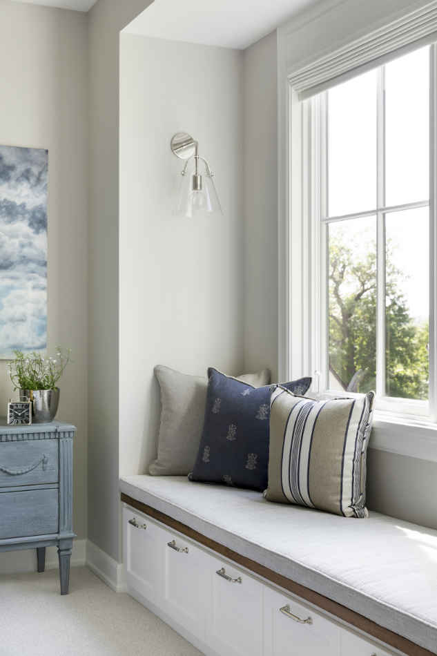 Bedroom Window Nook With Accent Pillows