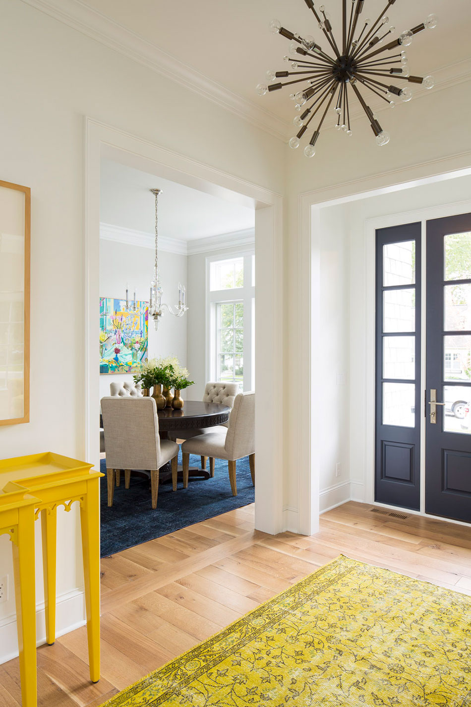 Bold Colorful Entryway Interior Design