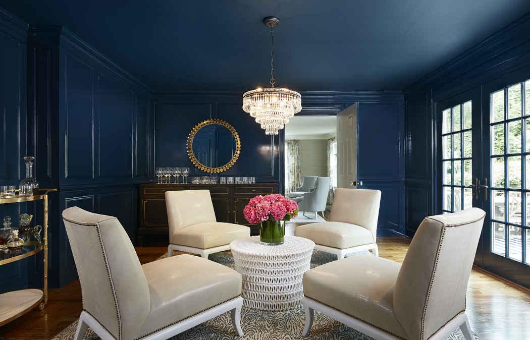 Deep Blue Parlour Interior Design