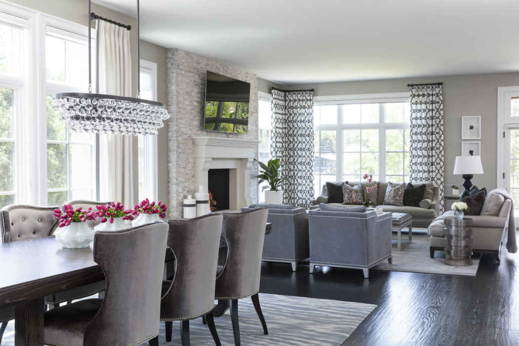 Dining Room And Living Room Interior Design