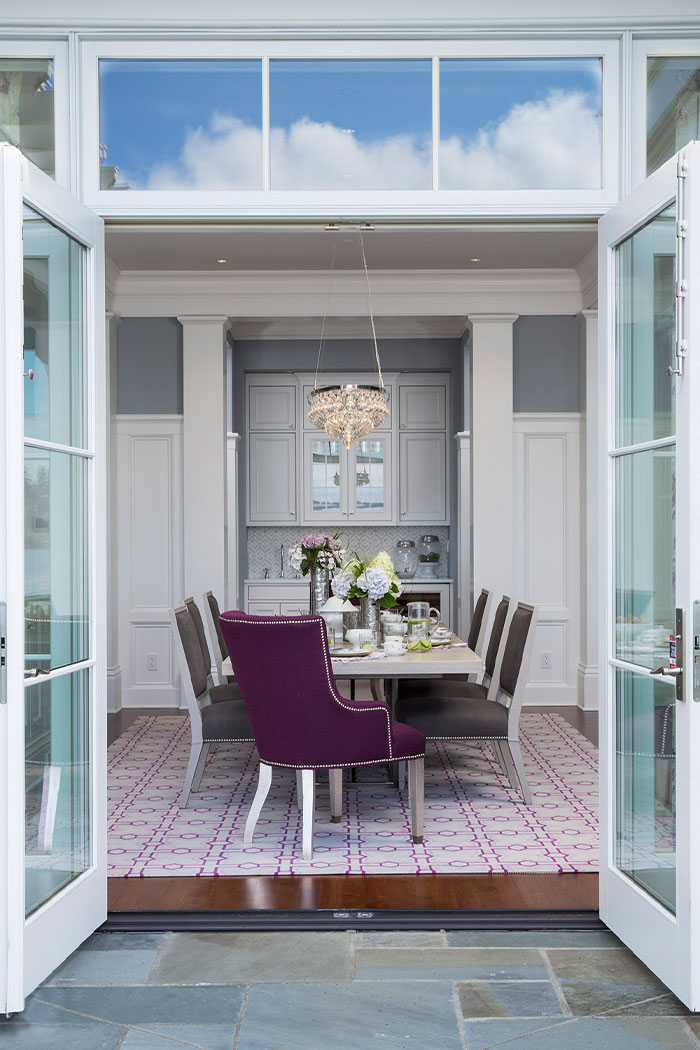 Dining Room Design With French Doors