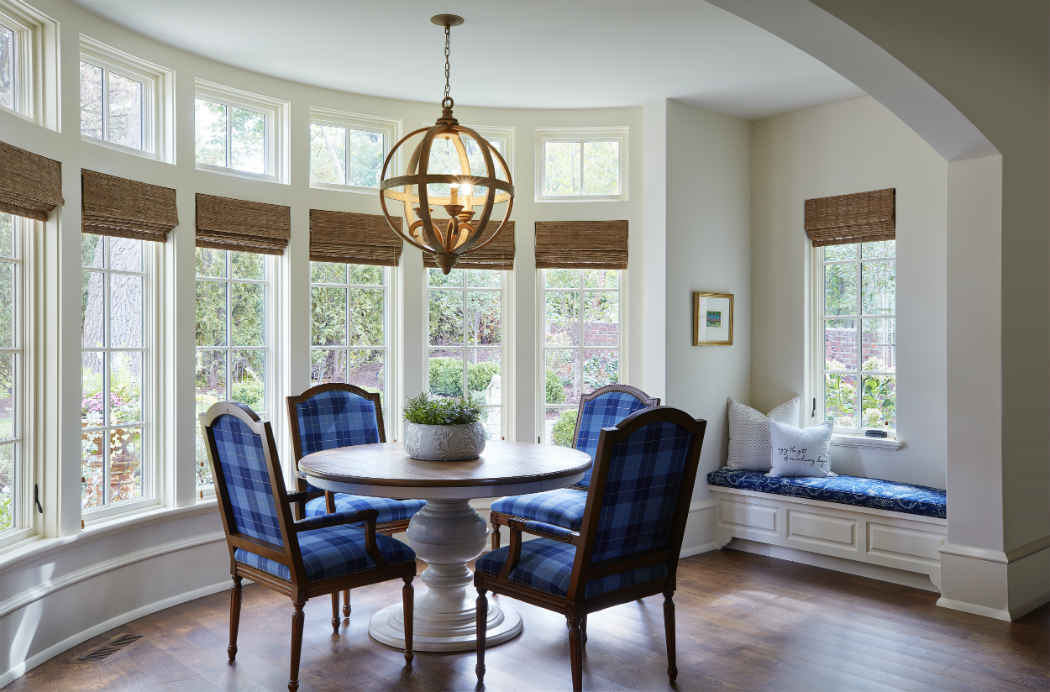 Dining Room With Blue Accents