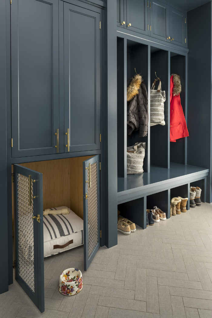 Dog House In Mudroom