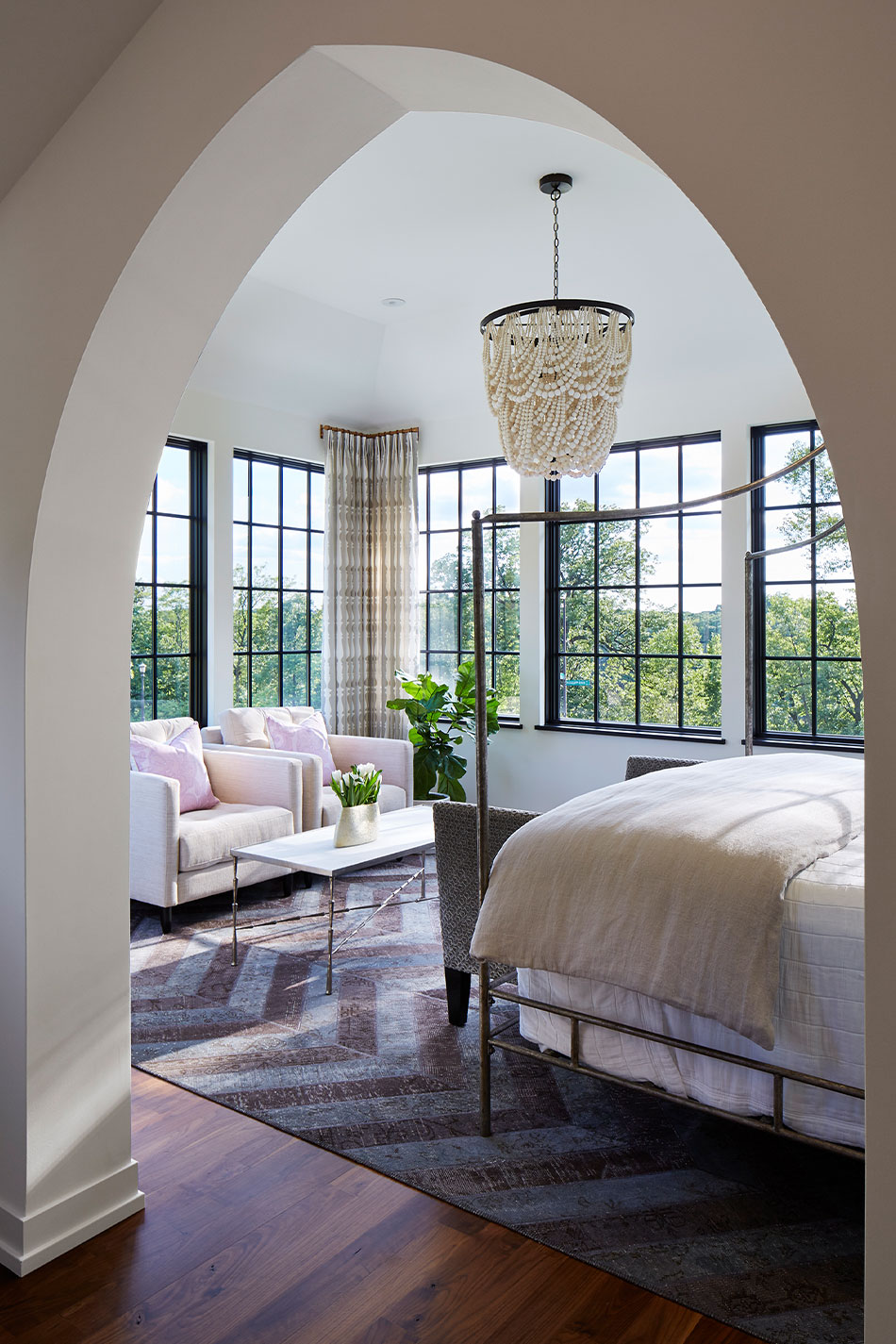 Elegant Master Bedroom Entry