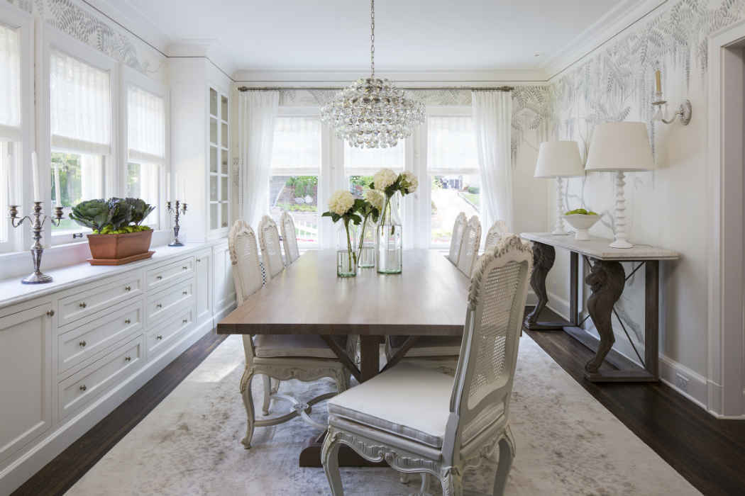 Elegant White Dining Room Design Minneapolis Mn