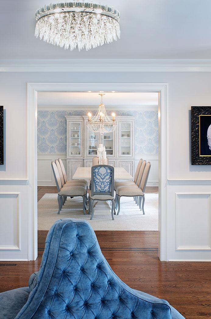 Entry Into Dining Room Interior Design