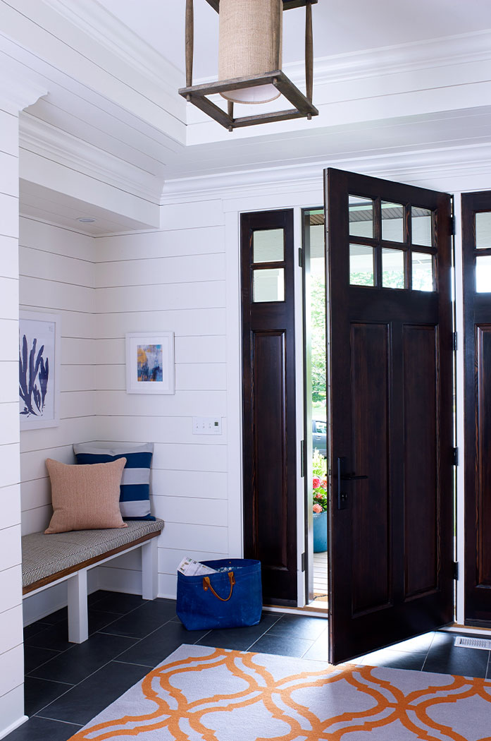 Entryway Design With Colorful Accents
