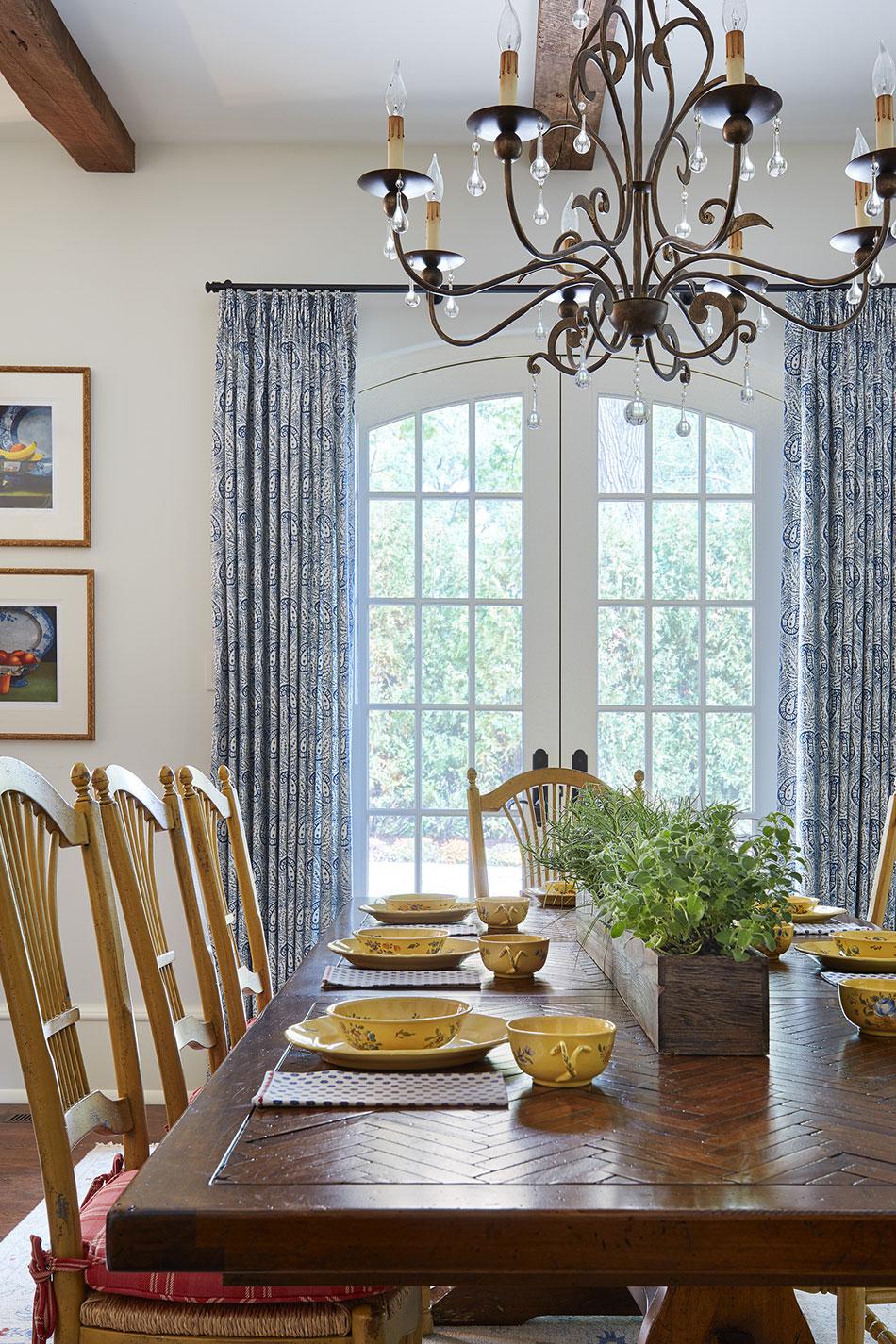 French Country Kitchen Dinette Interior Design
