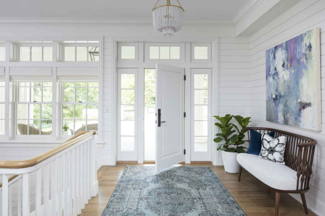 Grand White Entry Interior Design Mn
