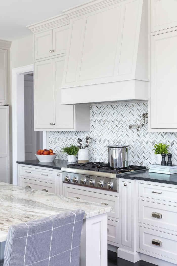 Herringbone Backsplash Kitchen Design