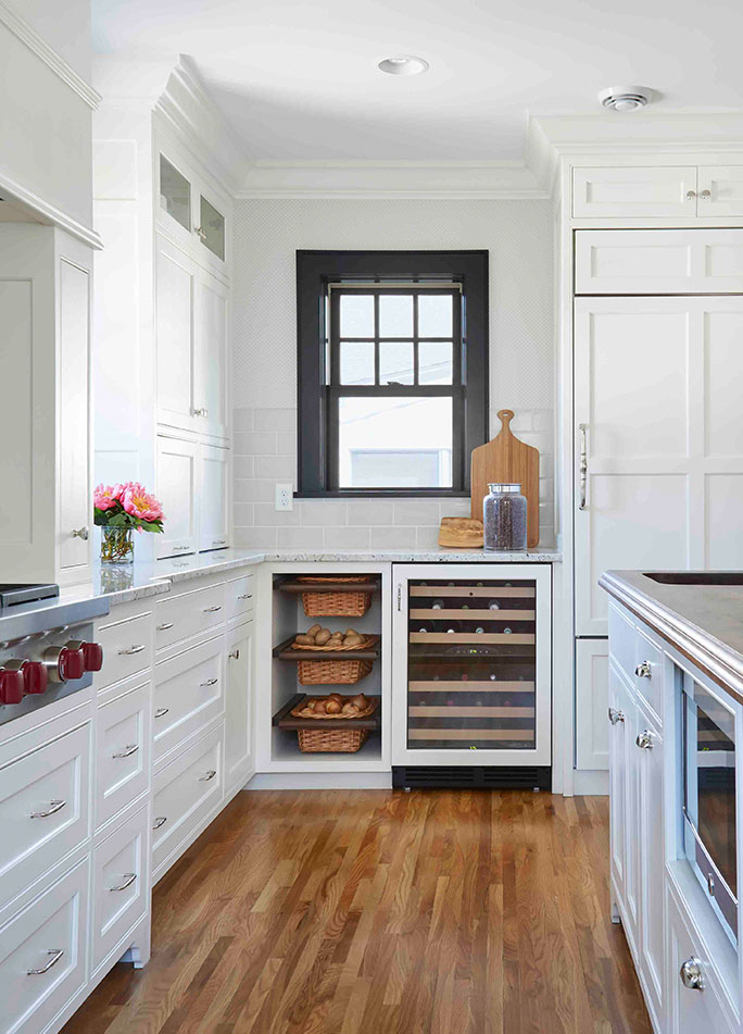 Kitchen Interior Design With Wine Fridge
