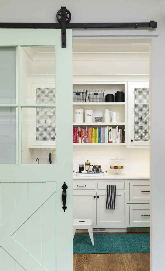 Kitchen Pantry With Barn Door