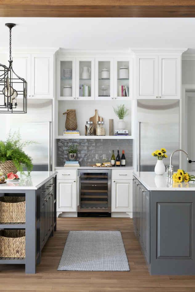 Kitchen With Two Island Interior Design