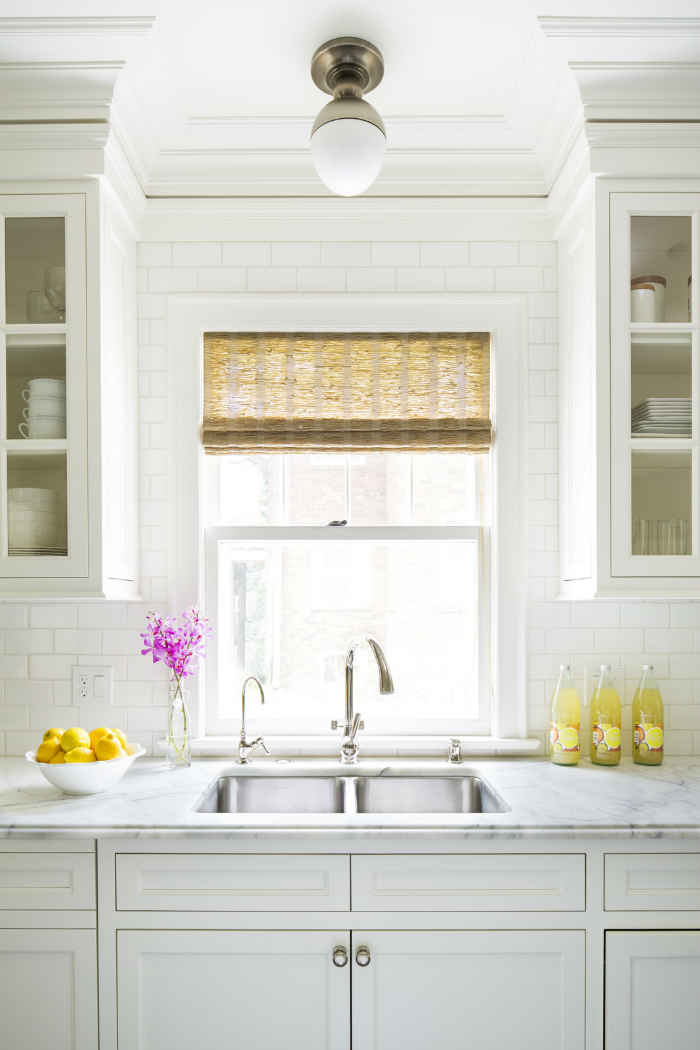 Kitchen With White Subway Tile Backsplash