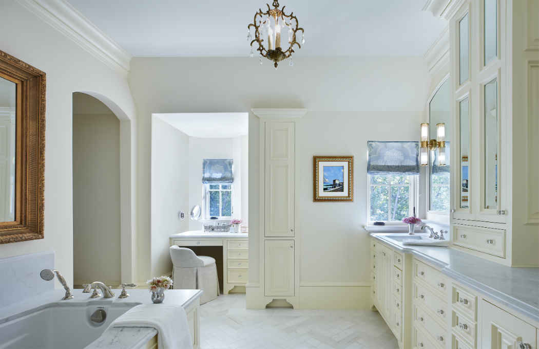 Large Master Bathroom With Double Vanity