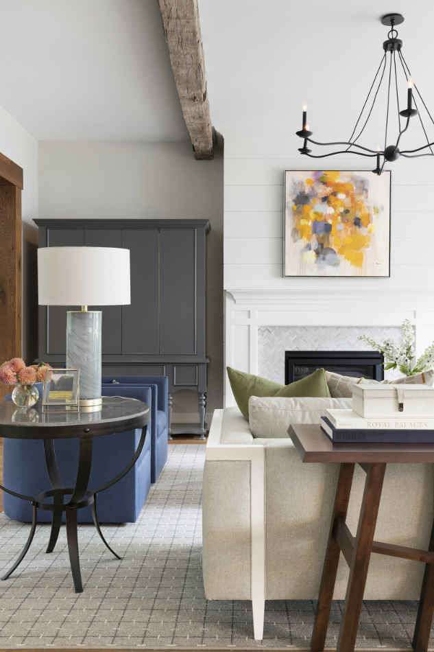Living Room Interior Design With Pops Of Color