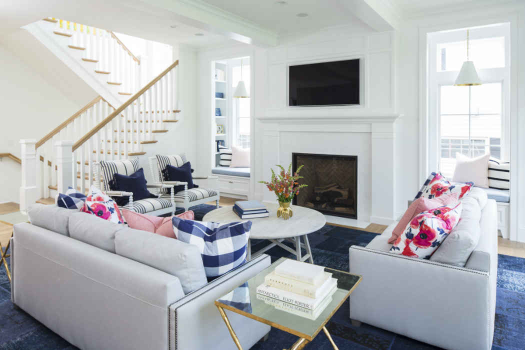 Living Room With Colorful Accents