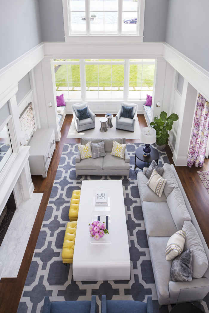 Living Room With Pops Of Color