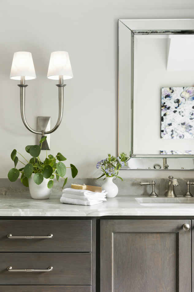 Master Bathroom Vanity With Marble Countertops