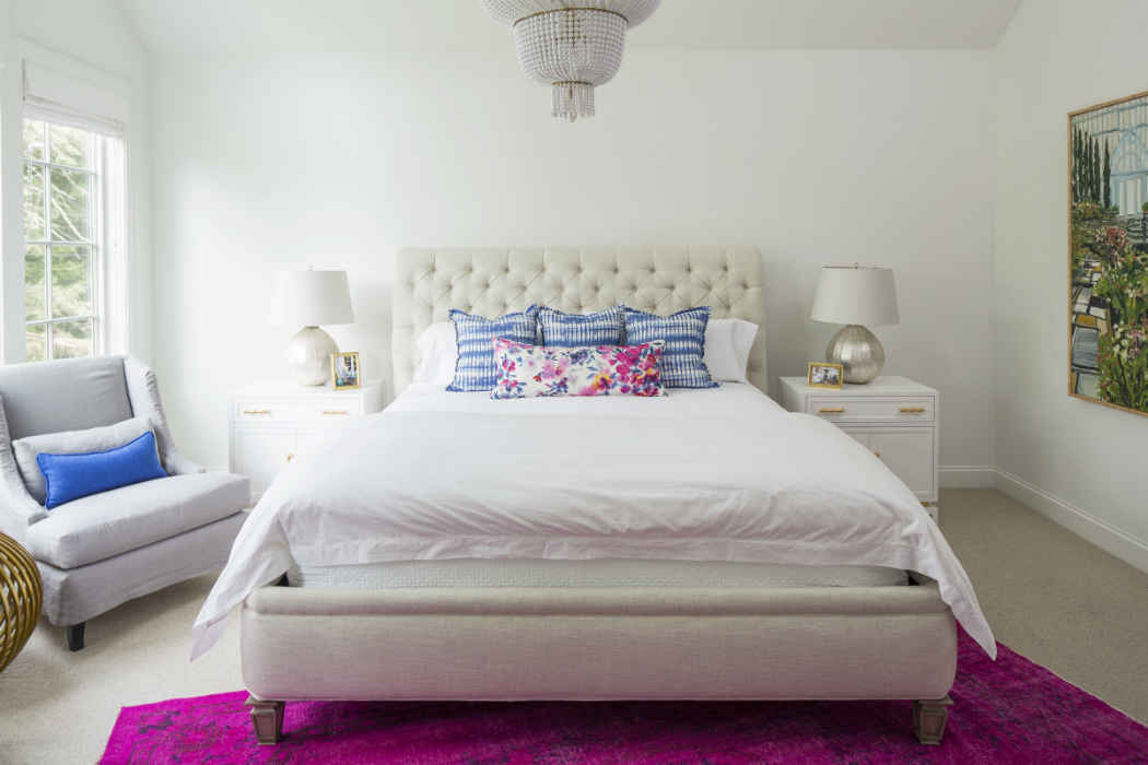 Master Bedroom With Pops Of Color