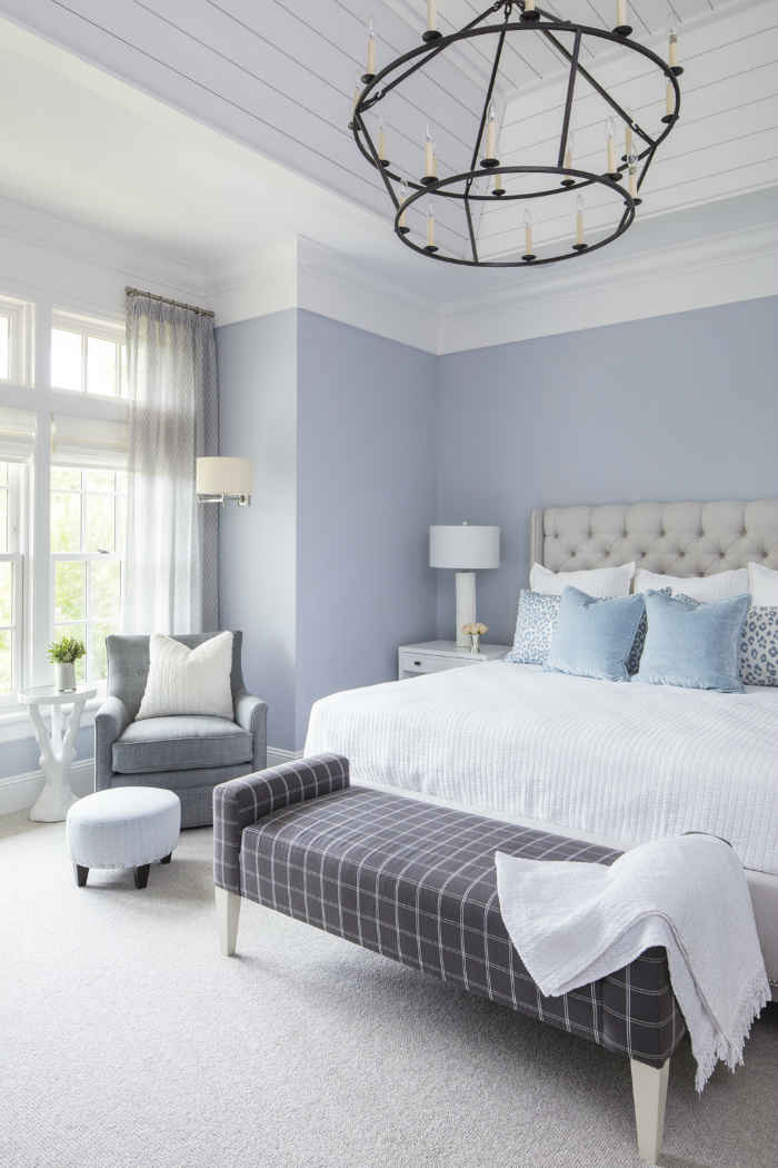 Master Bedroom With Powder Blue Walls