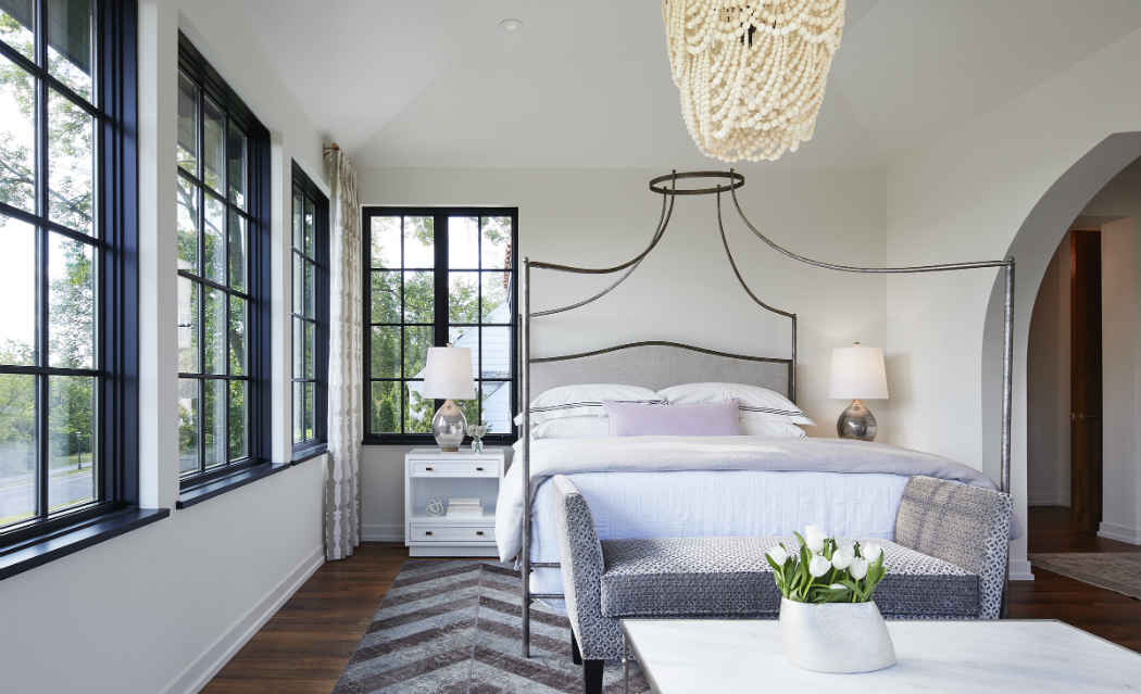 Masterbed Room Interior Design With Gray Accents