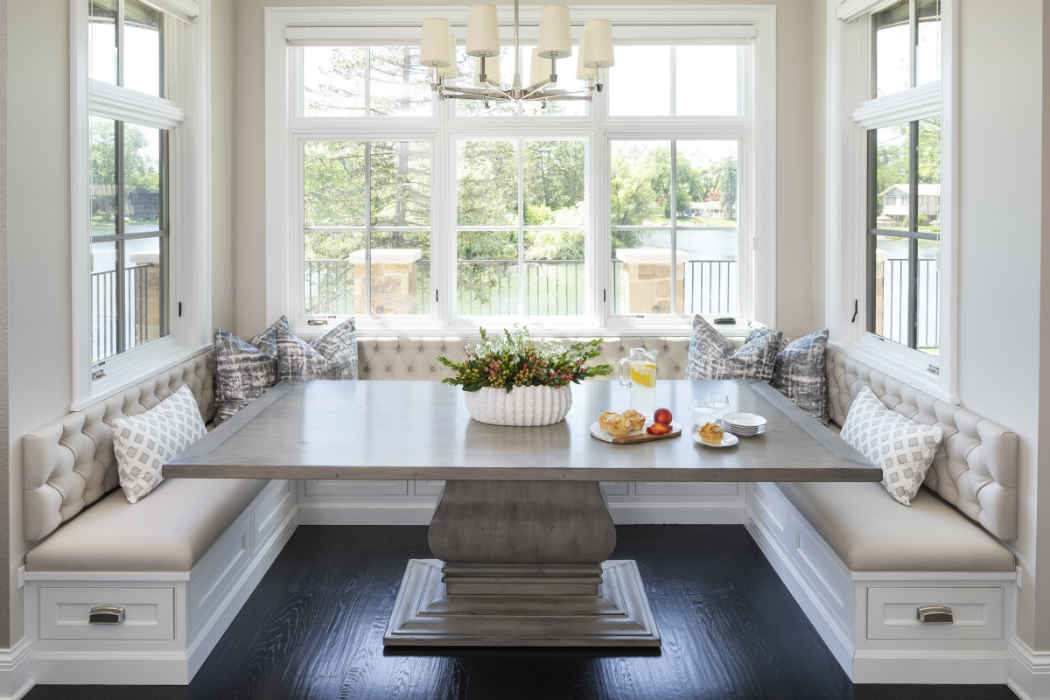 Neutral Tone Breakfast Nook Design