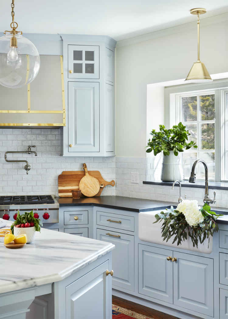 Pale Blue Kitchen Design By Martha Ohara Interiors