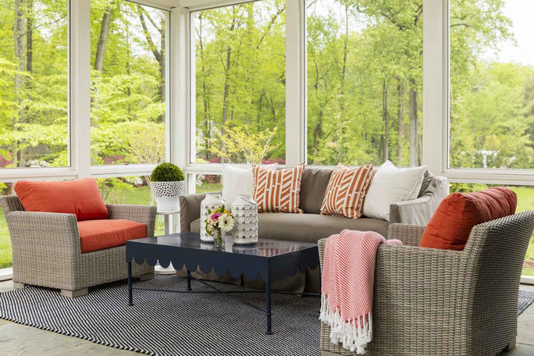 Porch Design By Martha Ohara Interiors