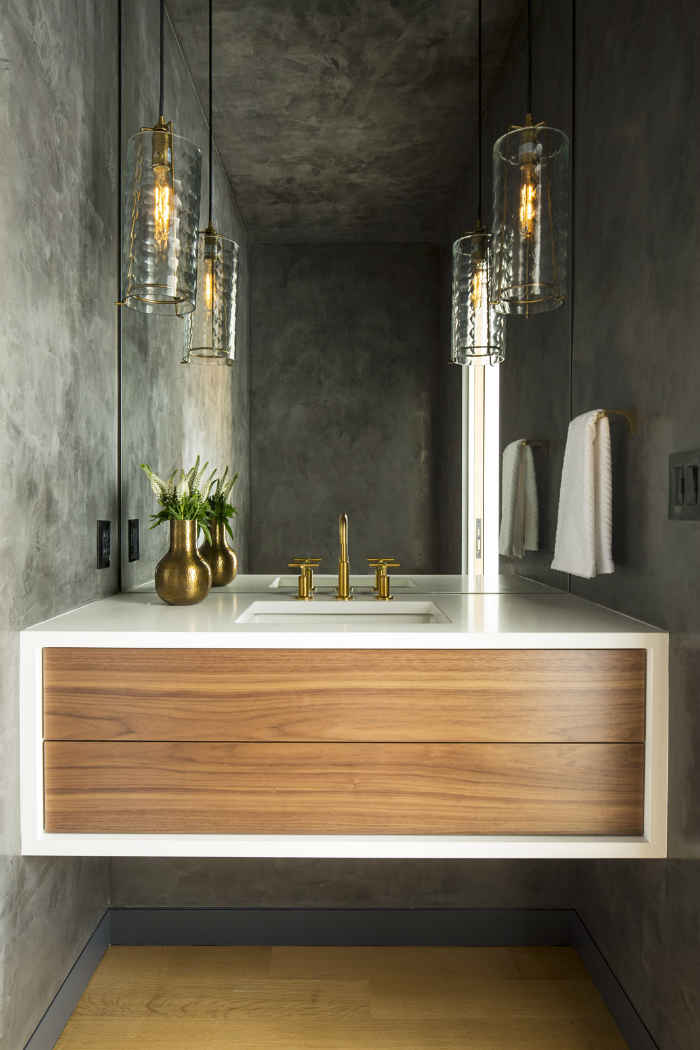 Powder Bathroom Interior Design Minneapolis Mn