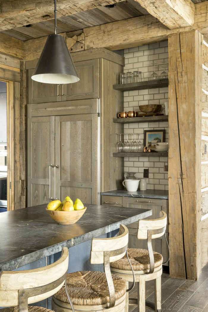 Rustic Kitchen With Subway Tile
