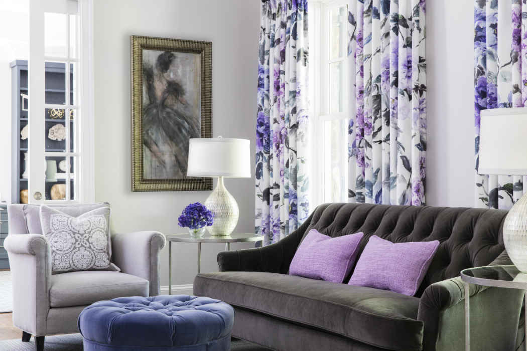 Sitting Room With Purple Accents