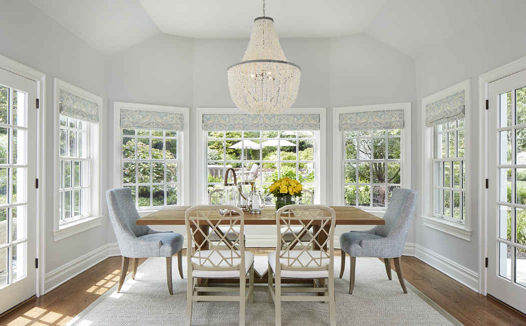 Soft Gray Dinette Interior Design