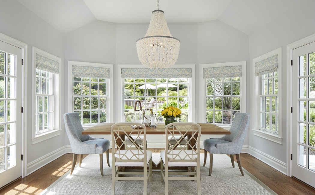 Soft Gray Dinette Interior Design