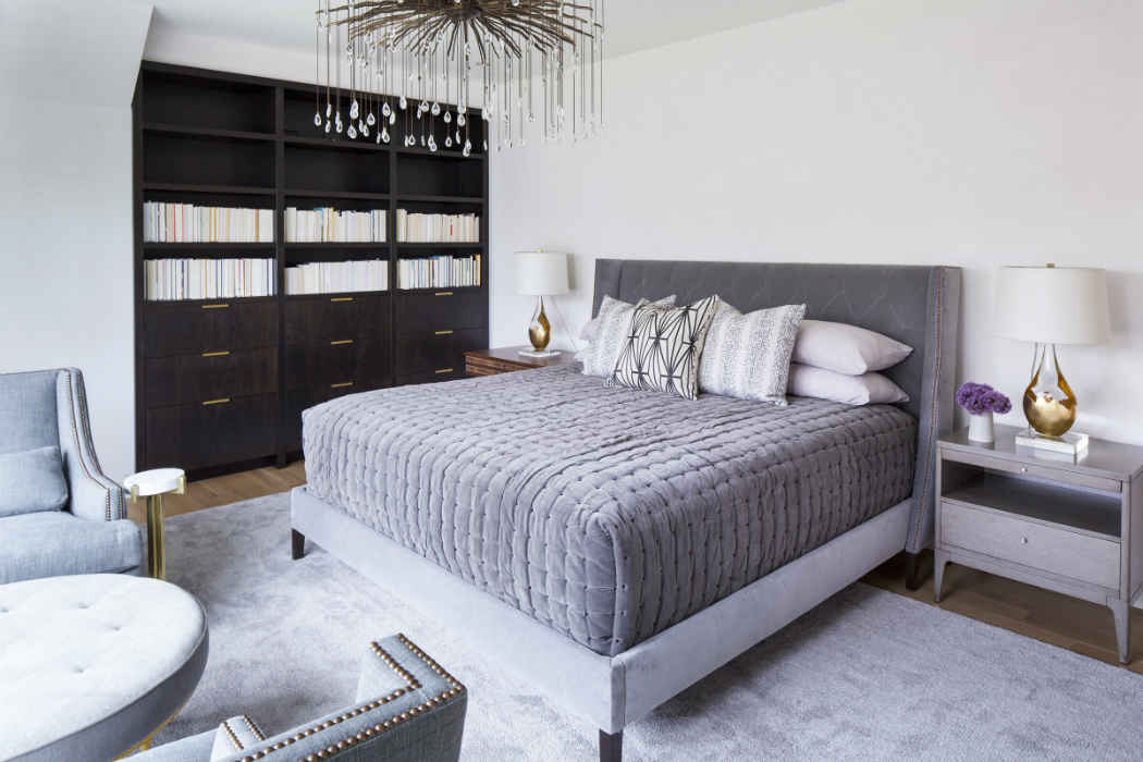 Soft Gray Master Bedroom Design