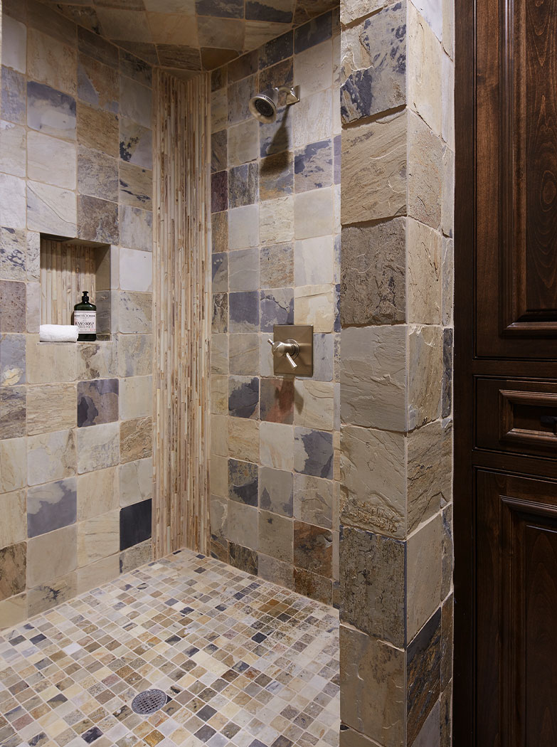 Stone Shower Design