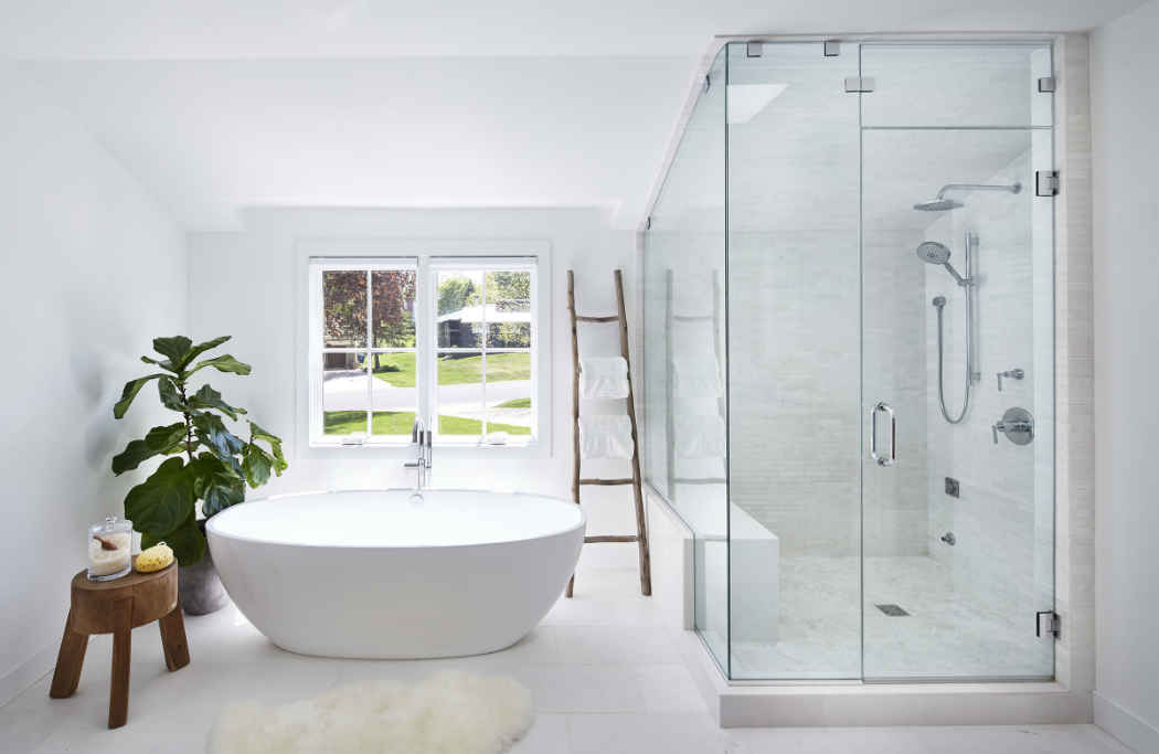 Stunning White Master Bathroom