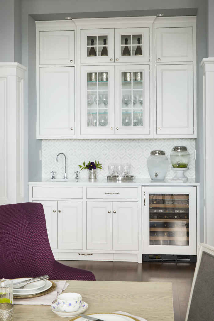 White Buffet Design By Martha Ohara Interiors