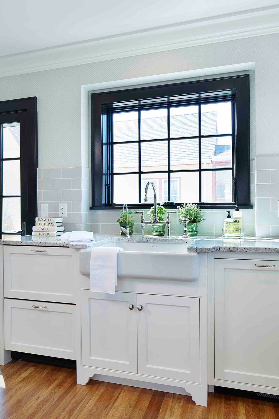 White Farmhouse Sink Kitchen Design Minneapolis