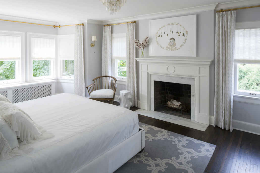 White Master Bedroom Interior Design Minneapolis