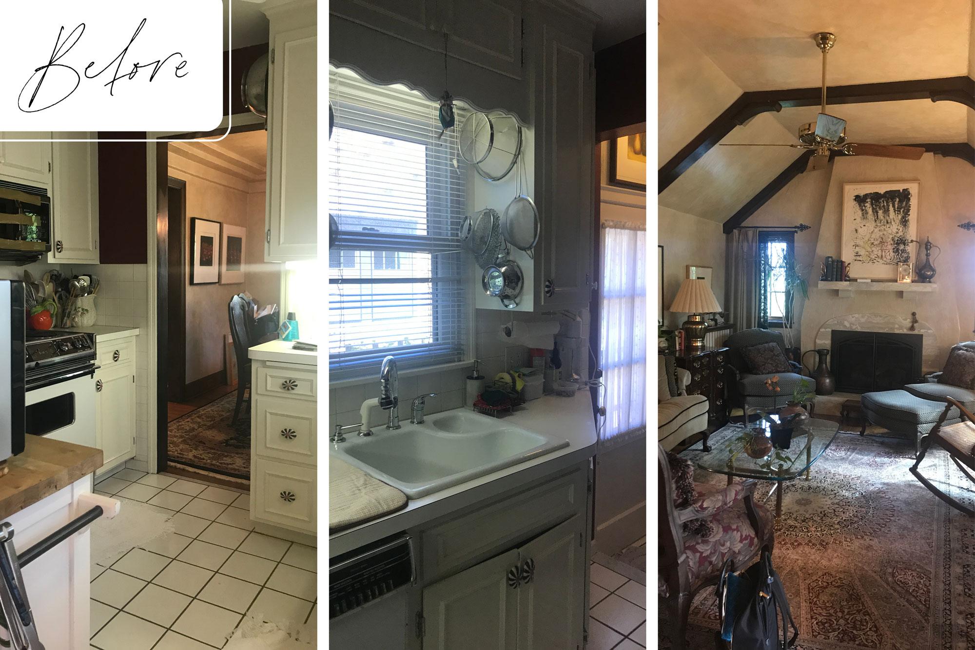 1 Before Tudor Revival Remodel Multiple Rooms
