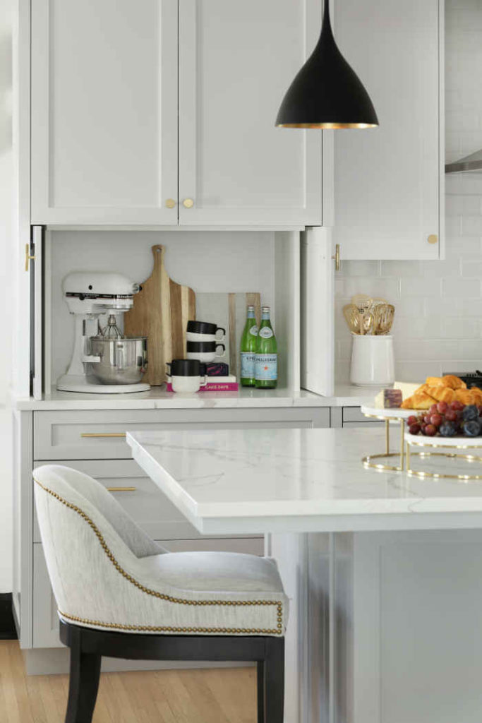 Beautiful White Kitchen With Black Accents
