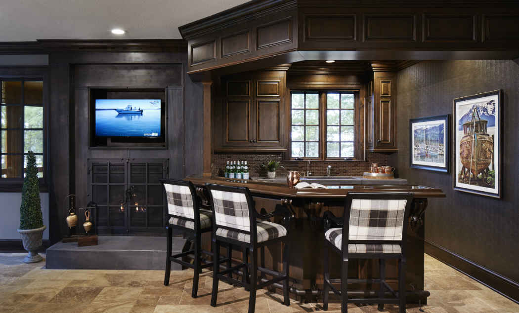 Dark Wood Bar Design