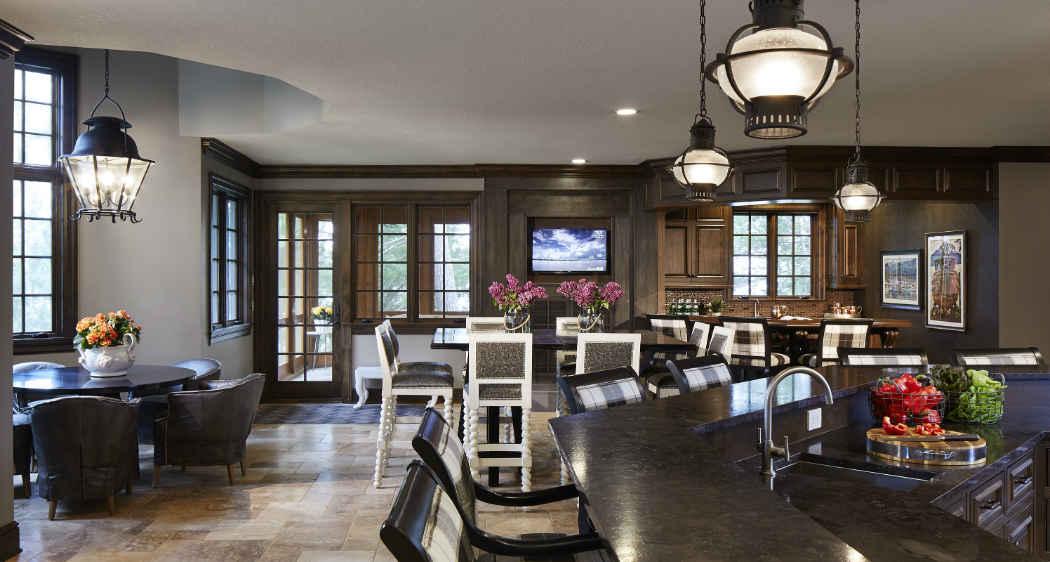 Dark Wood Kitchen Interior Design