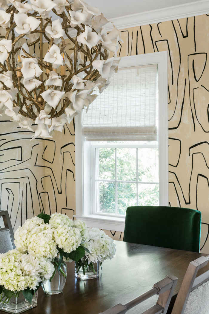 Dining Room Design With Wallpaper