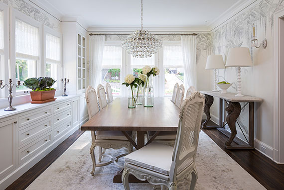 Elegant White Dining Room Design