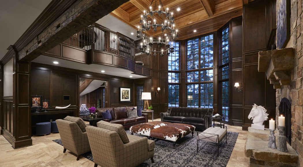 Grand Living Room Interior Design Lake Vermillion Mn